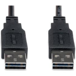 Tripp Lite Universal Reversible USB 2.0 Cable, 6', Black, TB4116