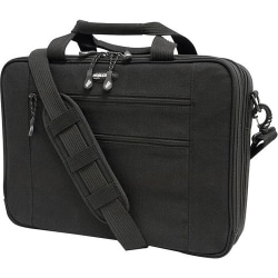 """Mobile Edge Eco-Friendly Carrying Case (Briefcase) for 16"""" to 17"""" Notebook - Black - Cotton Canvas, Poly Fur Interior - 12.3"""" Height x 4.5"""" Width"""