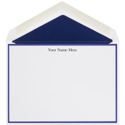 "The Occasions Group Stationery Note Cards, 4 1/2"" x 6 1/4""W, 30% Recycled, Flat, Midnight Border, White Matte, Box Of 25"