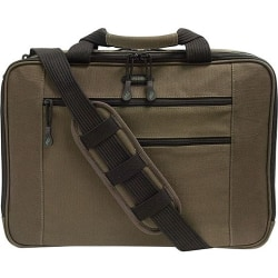 "Mobile Edge Eco-Friendly Carrying Case (Briefcase) for 16"" Notebook - Olive - Cotton Canvas, Poly Fur Interior - 12.3"" Height x 4.5"" Width"