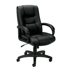 basyx by HON® VL131 Vinyl High-Back Executive Office Chair, Black