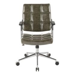 LumiSource Bureau Contemporary Office Chair, Green/Chrome