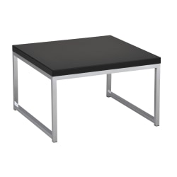 Ave Six Wall Street Table, Accent/Corner, Square, Black/Chrome