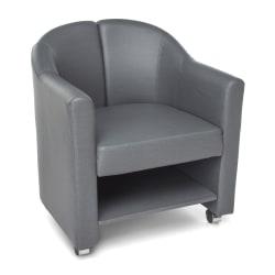 OFM Contour Series Mobile Club Chair, Slate Gray/Chrome
