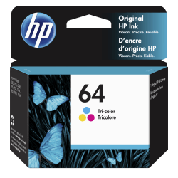 HP 64 Tri-Color Original Ink Cartridge (N9J89AN)