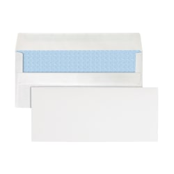 """Office Depot® Brand Clean Seal™ Security Envelopes, #10, 4 1/8"""" x 9 1/2"""", 30% Recycled, White, Box Of 250"""