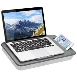 "LapGear® Sidekick™ Lap Desk, 2-1/4""H x 17""W x 11""D, Gray Herringbone, 44215-OD"