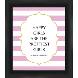 "PTM Images Framed Wall Art, Happy Girls, 13 3/8""H x 11 3/8""W"