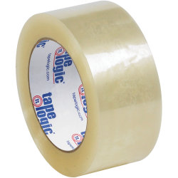 "Tape Logic® Quiet Carton-Sealing Tape, 3"" Core, 2.6-Mil, 2"" x 110 Yd., Clear, Pack Of 36"