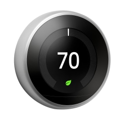 Google™ Nest Learning Thermostat (3rd Generation), Stainless Steel