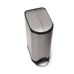 simplehuman® Butterfly Step Fingerprint-Proof Trash Can, 8 Gallons, Brushed Stainless Steel