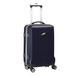"""Denco 2-In-1 Hard Case Rolling Carry-On Luggage, 21""""H x 13""""W x 9""""D, Philadelphia Eagles, Navy"""