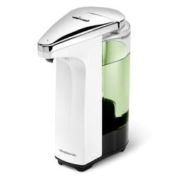 simplehuman 8 oz. Touch-Free Sensor Liquid Soap and Hand Sanitizer Dispenser, White
