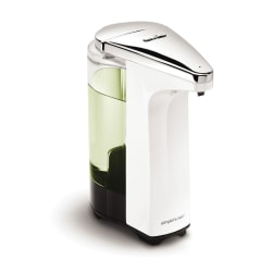 simplehuman Compact Sensor Pump For Soap, Lotion Or Sanitizer, 8 Fl. Oz., White