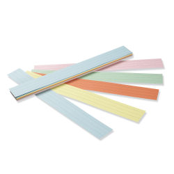 """Pacon® Kaleidoscope Tag Sentence Strips, 1 1/2"""" Ruled, Assorted, Pack Of 100"""