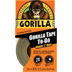 "Gorilla Tape To-Go - 10 yd Length x 1"" Width - 1 Each - Black"
