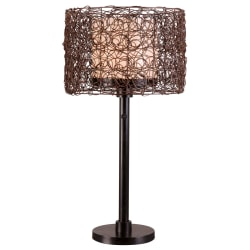 """Kenroy Tanglewood Outdoor Table Lamp, 28""""H, Bronze Shade/Bronze Base"""