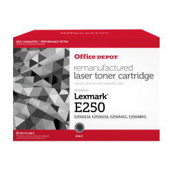 Office Depot® Brand ODE250 (Lexmark E250A11A) Remanufactured Black Toner Cartridge
