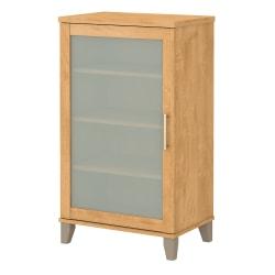 "Bush Furniture Somerset 24""W Media Storage Cabinet, Maple Cross, Standard Delivery"