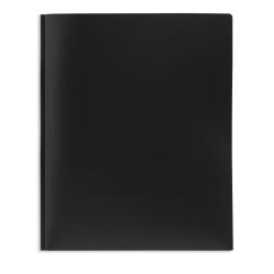 Office Depot® Brand 2-Pocket Poly Folder with Prongs, Letter Size, Black