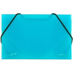 JAM Paper® Business Card Case With Elastic Closure, Blue