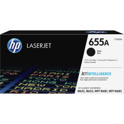 HP Original LaserJet Toner Cartridge, Black, 655A (CF450A)