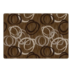 "Flagship Carpets Duo Rectangular Rug, 100"" x 144"", Chocolate"