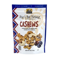 Pennsylvania Dutch Candies Nut'n But Natural Cashews With Blueberries, Cranberries And Quinoa, 4 Oz, Pack Of 4
