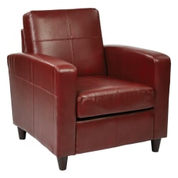 Office Star™ Avenue Six Venus Bonded Leather Club Chair, Crimson/Dark Brown
