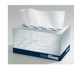 Kleenex® Boxed 1-Ply Paper Towels, 120 Sheets Per Box, Pack Of 18 Boxes