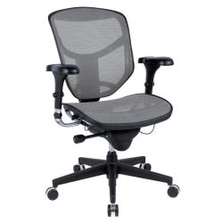 WorkPro® Quantum 9000 Series Ergonomic Mesh/Mesh Mid-Back Chair, Gray/Black