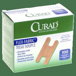 "Medline Adhesive Knuckle Bandages, 1 1/2"" x 3"", Box Of 100"