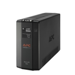 APC® Back-UPS® Pro BX Compact Tower Uninterruptible Power Supply, 8 Outlets, 850VA/510 Watts, BX850M
