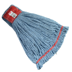 "Rubbermaid Premium Web Foot Shrinkless Wet Mop, Large 5"" Headband, Blue"