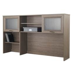 """Realspace® Magellan 58""""W Hutch For Corner/L-Desk, Gray"""