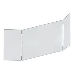 """Azar Displays Cashier Shield, 53-1/2"""" x 23-1/2"""", Clear"""