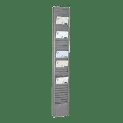 """Steelmaster Vertical Heavy-Duty Swipe Card Rack, 40 Pockets, 18.78"""" x 2.9"""" x 1"""", Gray"""