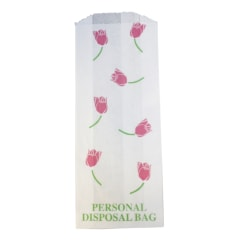 """Rochester Midland Feminine Hygiene Products Disposal Bags, 8 1/2""""H x 3 1/2""""W, Multicolor, Pack Of 1,000"""