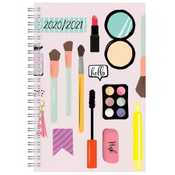"""Office Depot® Weekly/Monthly Academic Planner, 5"""" x 8"""", Makeup, July 2020 To June 2021, AY20MKUPSPL002"""