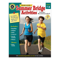 Carson-Dellosa Summer Bridge Activities Workbook, Grades 7-8