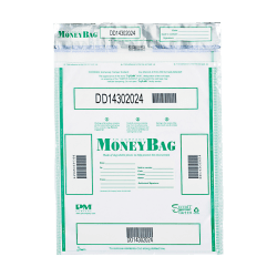 "PM® Company Tamper-Evident Money Bags, 15"" x 20"", Clear, Pack Of 50"