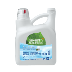 Seventh Generation™ Natural Laundry Detergent, Free & Clear Scent, 150 Oz Bottle