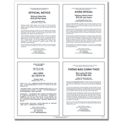 "ComplyRight City Poster, Minimum Wage, San Jose, California, Multilingual, 19"" x 24"""