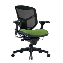 WorkPro® Quantum 9000 Ergonomic Mesh/Fabric Mid-Back Manager's Chair, Lime/Black