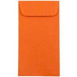 "JAM Paper® Open-End Coin Envelopes, #7, 3 1/2"" x 6 1/2"", Orange, Pack Of 25"