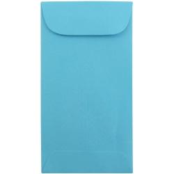 JAM Paper® Coin Envelopes, #7, Gummed Seal, 30% Recycled, Blue, Pack Of 25