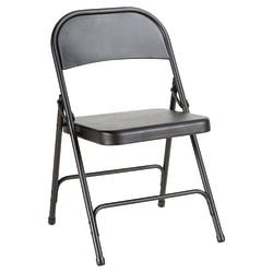 Alera Steel Folding Chairs, Graphite, Carton Of 4