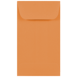 "JAM Paper® Open-End Coin Envelopes, #3, 2 1/2"" x 4 1/4"", Brown Kraft, Pack Of 25"