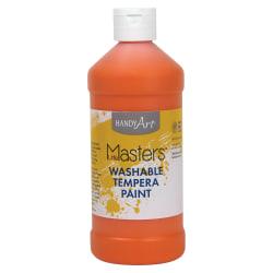 Handy Art 16 oz. Little Masters Washable Tempera Paint - 16 fl oz - 1 Each - Orange