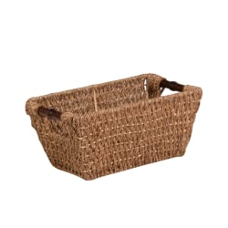 Honey-Can-Do Seagrass Basket With Handles, Medium Size, Brown/Natural